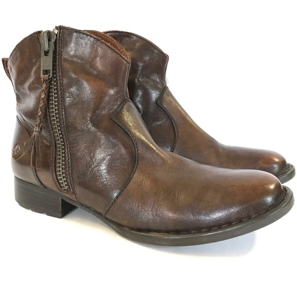 fea20c8ed51d Born Other - Born Leather Zip Up Low Boots
